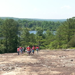 YMCA HIkers on Arabia Mountain