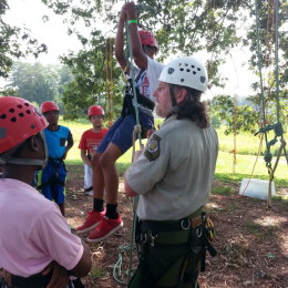 Learning the ropes at Panola Mountain State Park