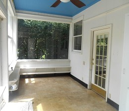 Large screened-in porch