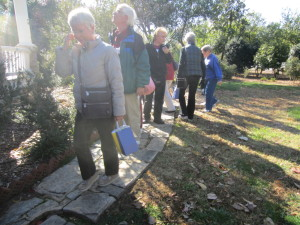 Touring the gardens