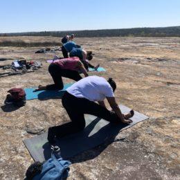 arabia mountain yoga, outdoor yoga, mountaintop yoga
