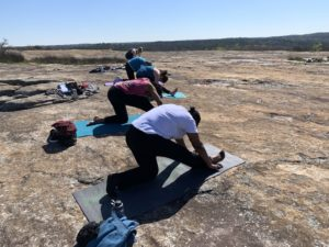 arabia mountain yoga, outdoor yoga, mountaintop yoga