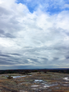 Gorgeous sky view from arabia mountain