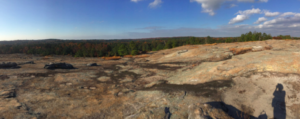 The beautiful view from the Arabia Mountain Monodnock