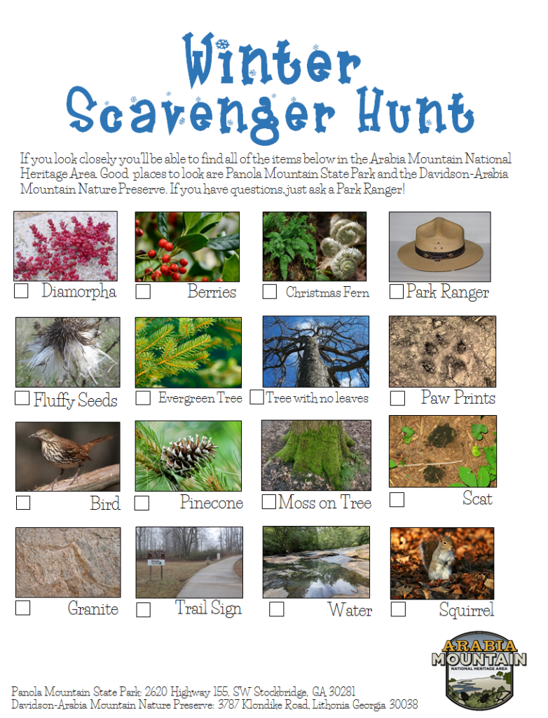Winter Scavanger Hunt